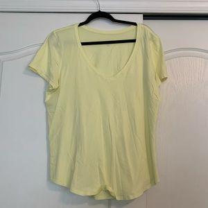 Lulu Lemon Yellow Top